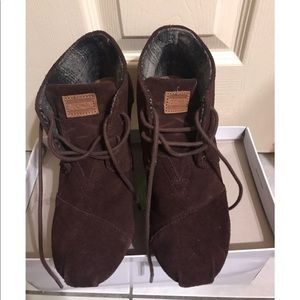 Toms Wedge Ankle Boots